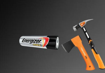Fiskars termékek, Energizer termékek logo